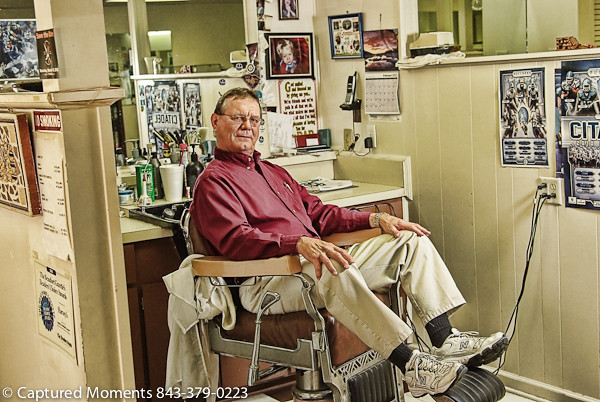 Local Barbers : The Harvey Bros/John The local Barbers who have been in bu ...