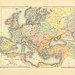 Map page of of Section VIII Europe at the Accession of the Emperor Charles V, 1519 from Part XXVII of Historical atlas of modern Europe from the decline of the Roman empire : comprising also maps of parts of Asia and of the New world connected with Europe