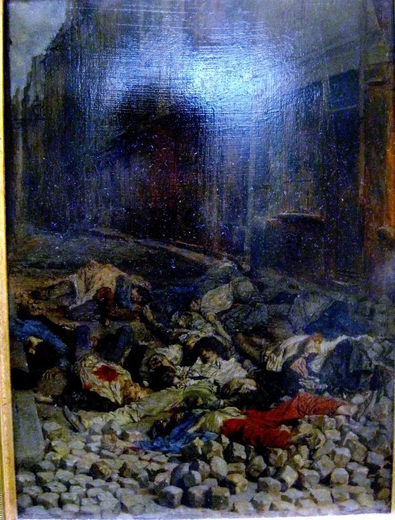 Ernest Meissonier, La barricade, rue de la Mortellerie, ju ...
