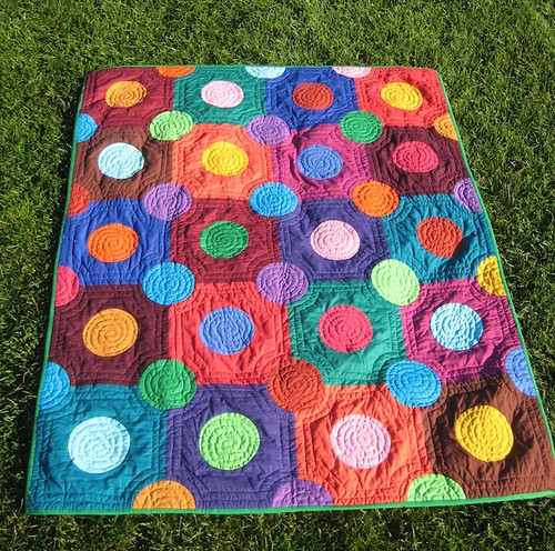 Multicolor Spots on Squares Quilt | by Pippa Patchwork