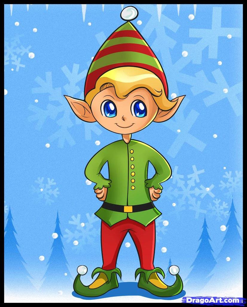 Christmas Elf Drawing To-draw-a-christmas-elf