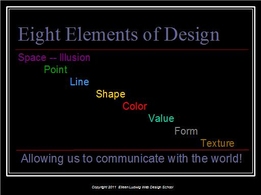 Elements Of Design Point : Eight elements of design space point line shape color