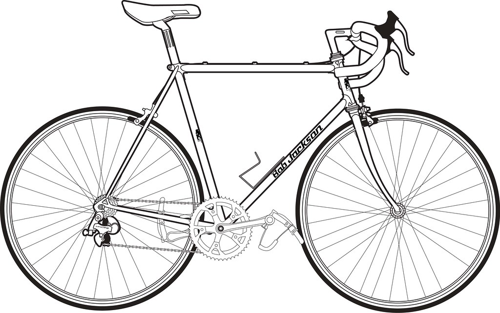 Line Drawing Bicycle : Ca  s bob jackson line drawing here another foray