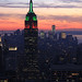 ESB in Christmas Colors against awesome pastel pink blue sunset