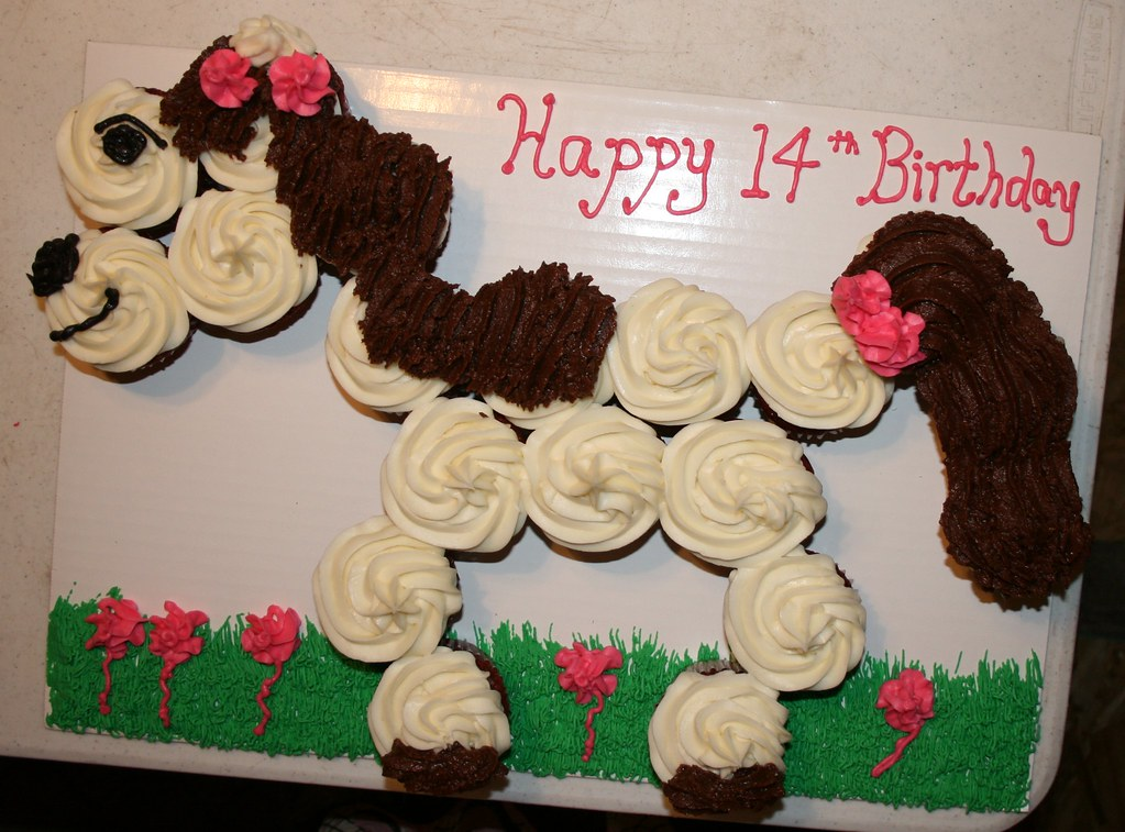 Horse Cupcake Cake This Is My First Cupcake Cake It