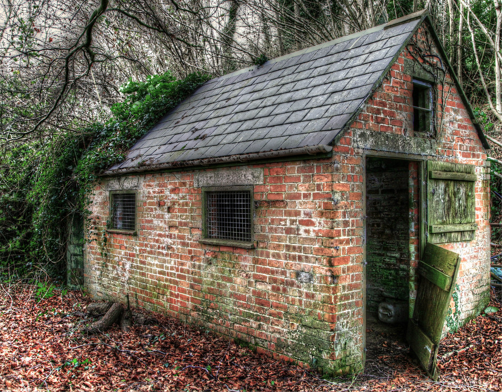 Old Brick Shed 6 Sat At The Side Of A Dorset Lane