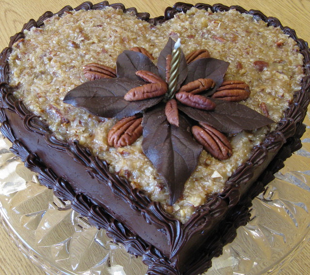 German Chocolate Cake With Caramel Topping