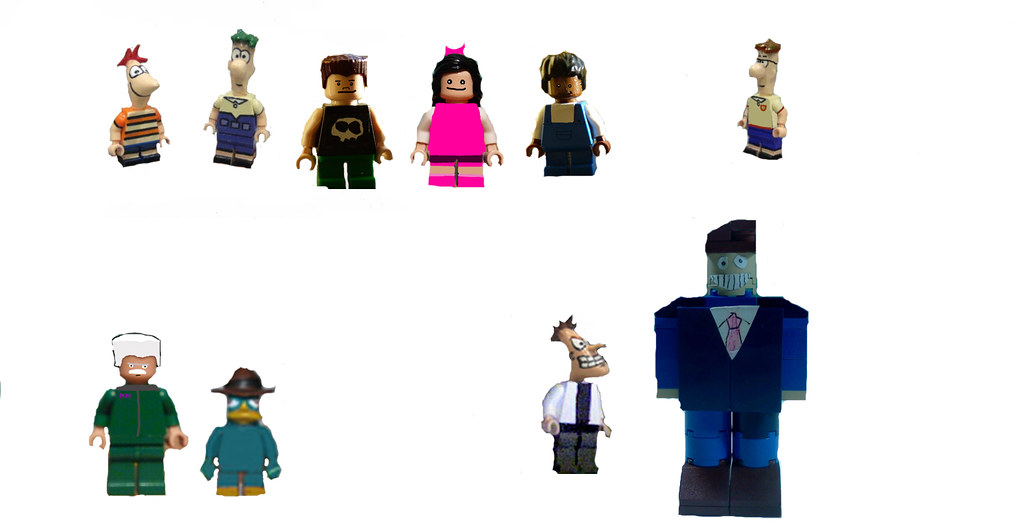 phineas and ferb minifigs