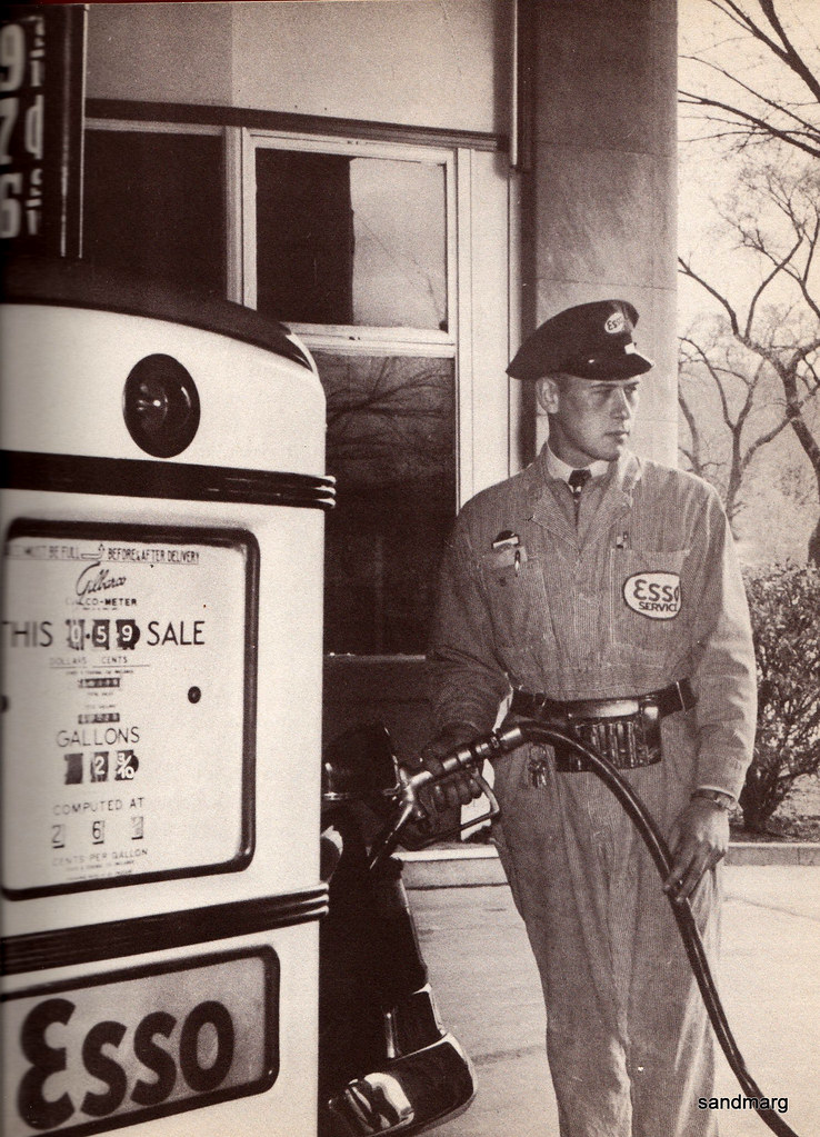 1957 Esso Gas Station Attendant Sandmarg Etsy Flickr