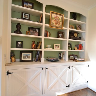 barn doors custom cabinets | by lauratrevey