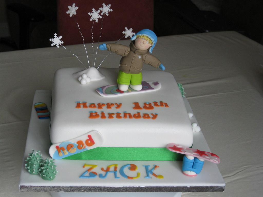 snowboard birthday cakes