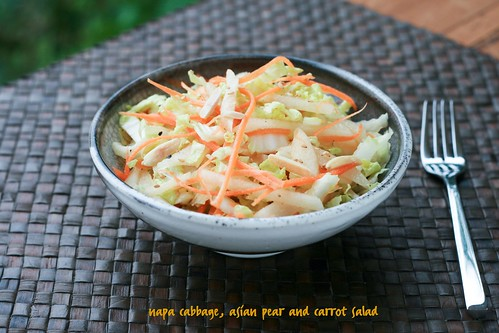Napa Cabbage, Asian Pear & Carrot Salad | by Food Librarian