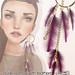 [ glow ] studio - huge earrings eith feathers gradients