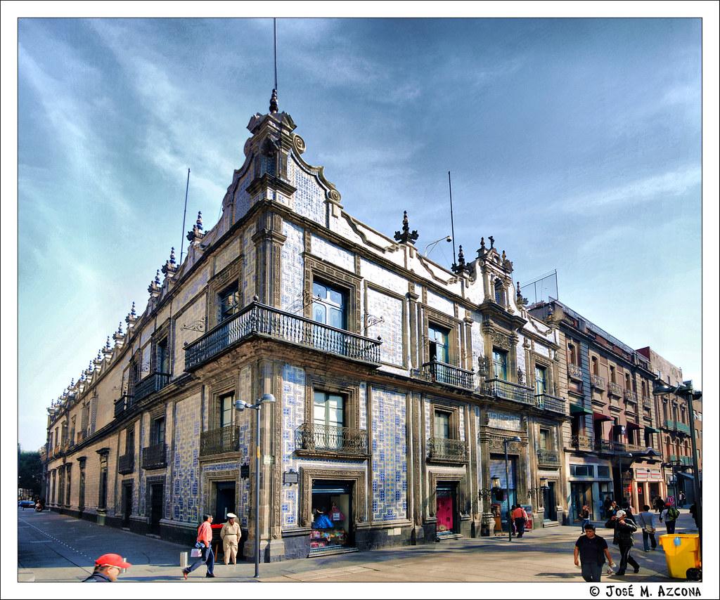 M xico df casa de los azulejos desde la calle francisco for La casa del azulejo san francisco
