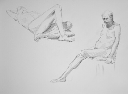figure drawing: pencil