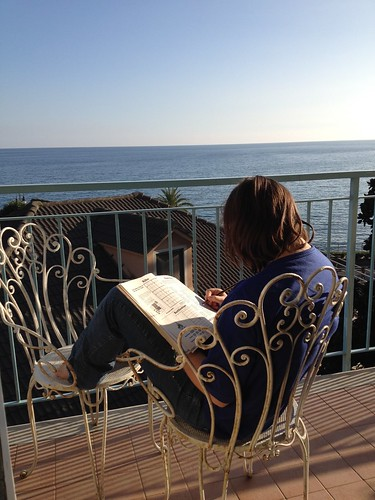 the italian riviera balcony view