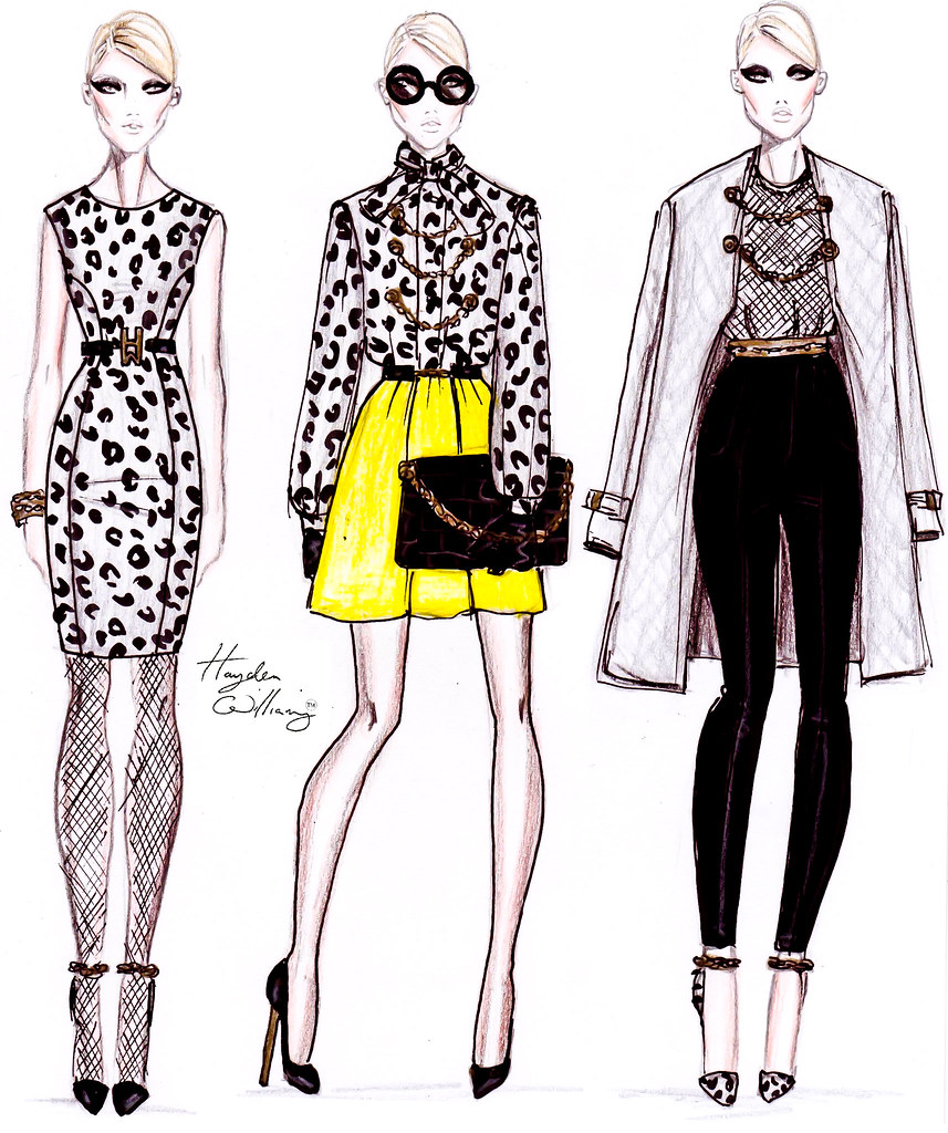 Fashion illustration sketches templates back