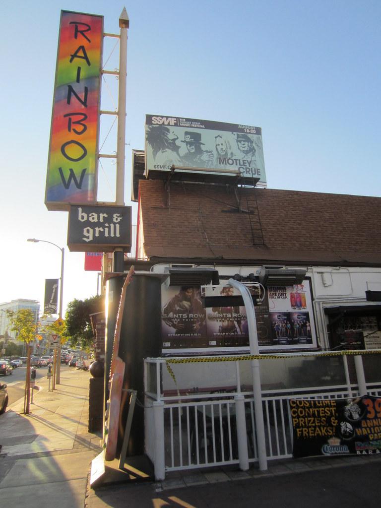 Motley Crue Billboard on top of The Rainbow Bar and Grill ...