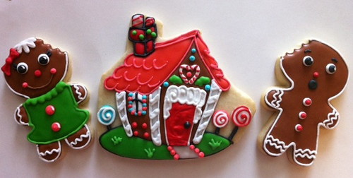 Gingerbread house and gingerbread men cookie   by Hayley Cakes and ...
