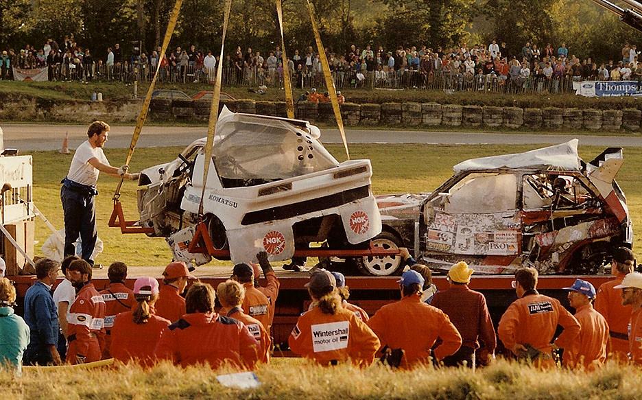 Pro Street Cars >> Rallycross crash aftermath - European Rallycross Round Lyd ...