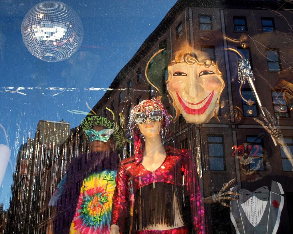 Costumes Halloween Adventure Store Holiday Window Display,… | Flickr