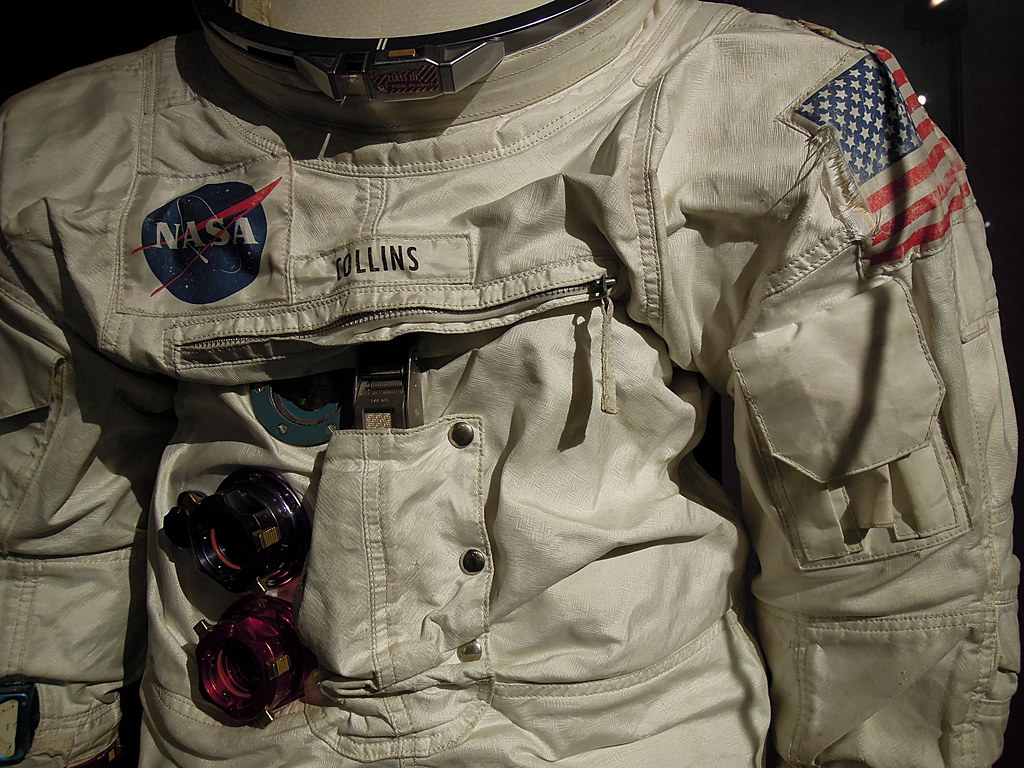 Space suit worm by Apollo 11 astronaut Michael Collins ...
