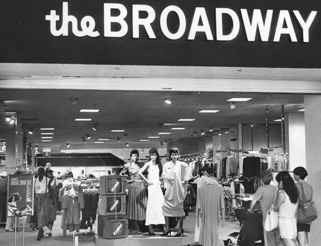 The Broadway Department Store Santa Monica Place Mall 1984