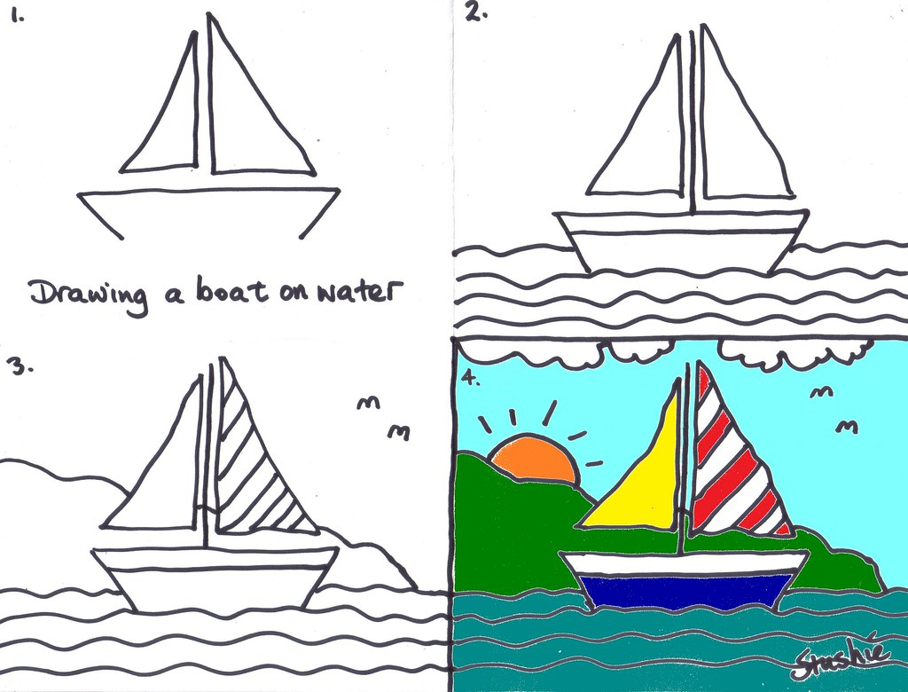 This is a picture of Unforgettable A Boat Drawing