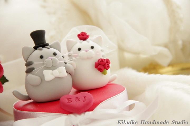 Kitten Wedding Cake Topper