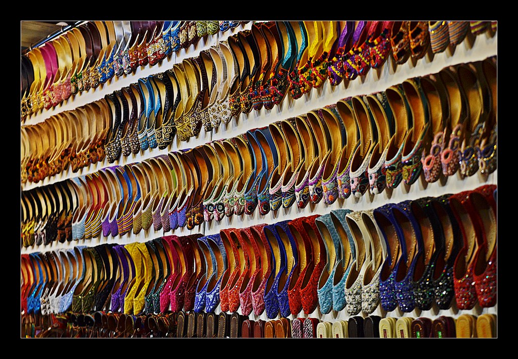 Traditional Indian shoes on sale at Dubai Shopping Festiva… | Flickr