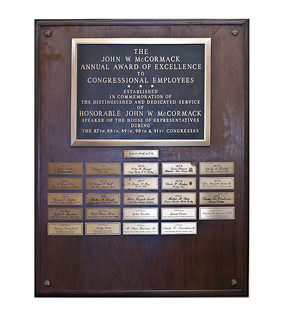 McCormack Annual Award Plaque | by USCapitol