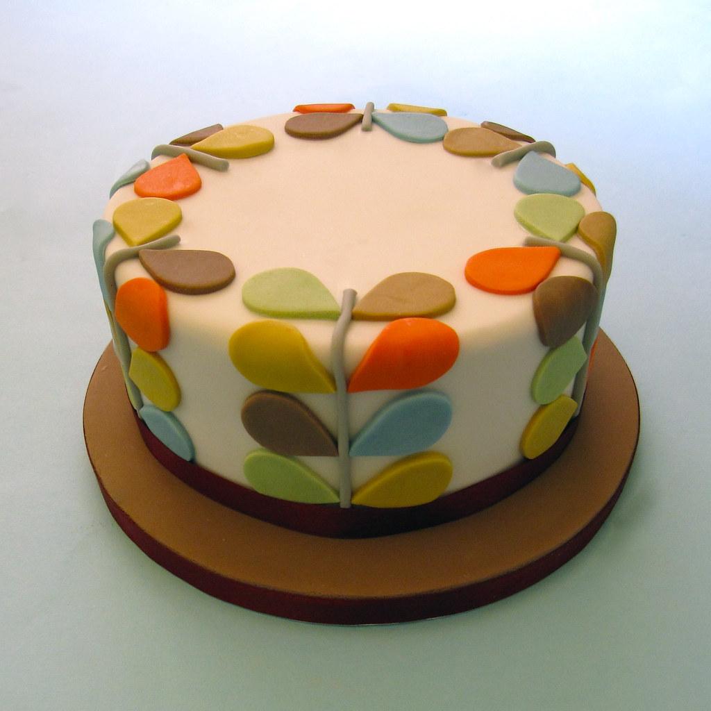Orla Kiely Inspired Birthday Cake