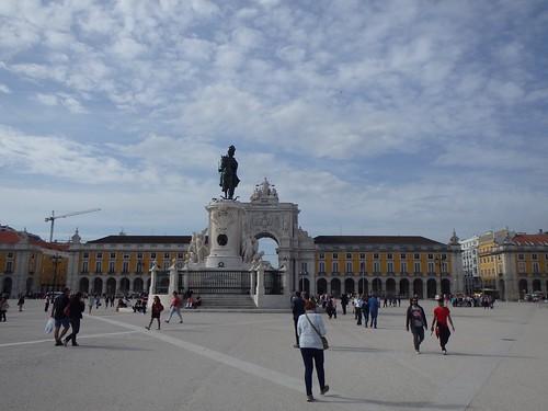 La piazza principale di Lisbona