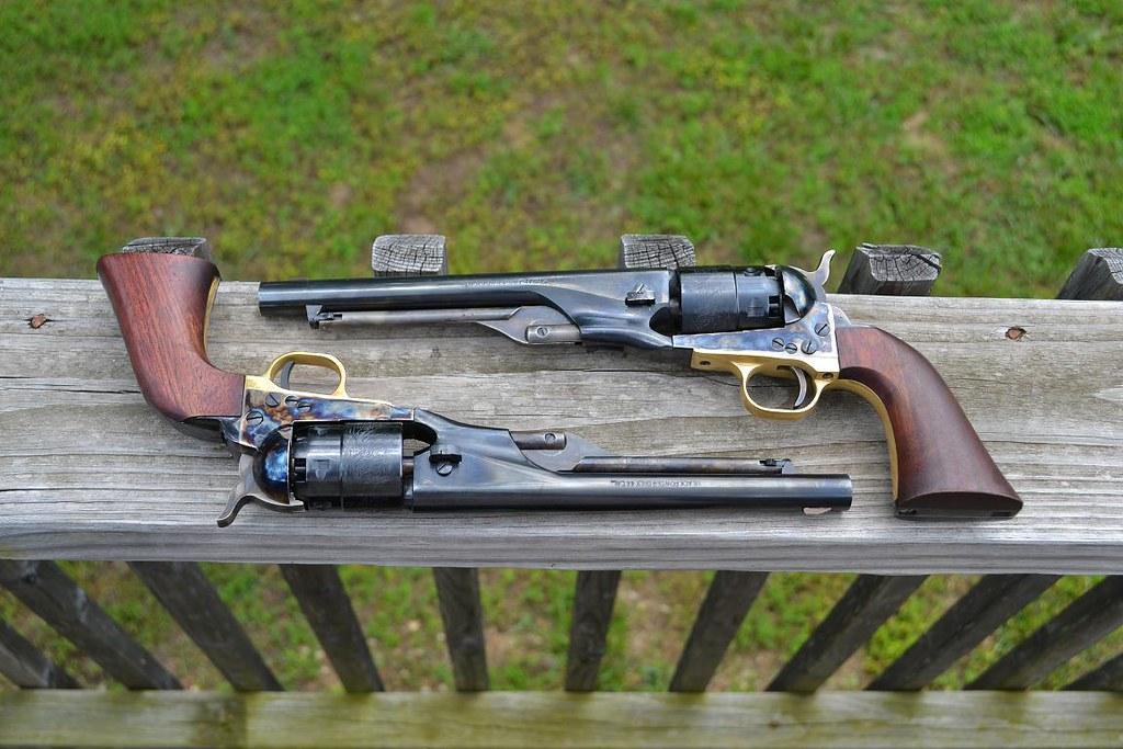Pair of Pietta 1860 Army revolver's & a Homemade barrel