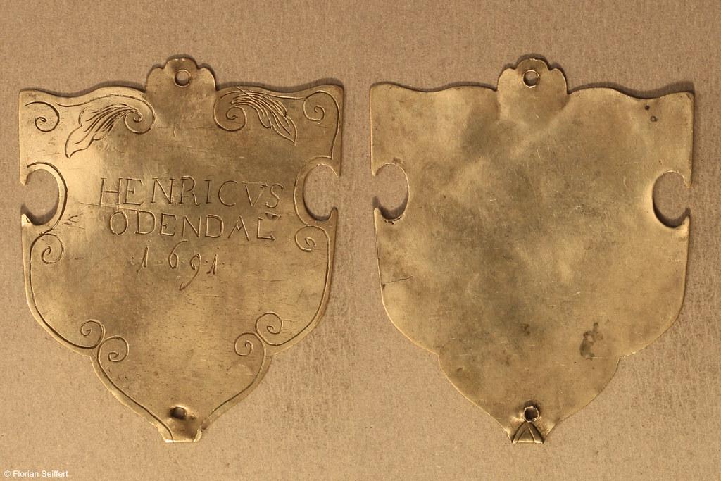 Koenigsschild Flittard von odendal henricvs aus dem Jahr 1691