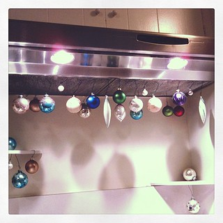 A little Christmas ornament DIY... they're hanging from my stove vent to dry. #shadows | by ...love Maegan