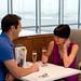 Gatwick no1 lounge romantic couple