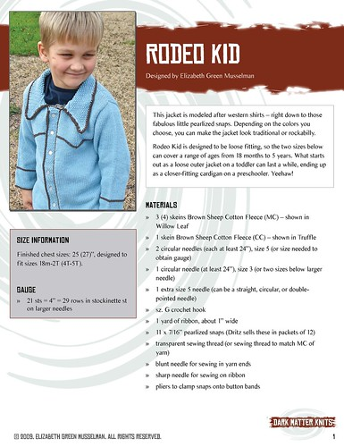 Rodeo Kid pattern, page 1 | by elizgm