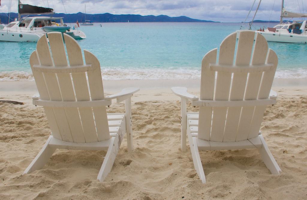Adirondack Beach Chair Wedding Cake Topper