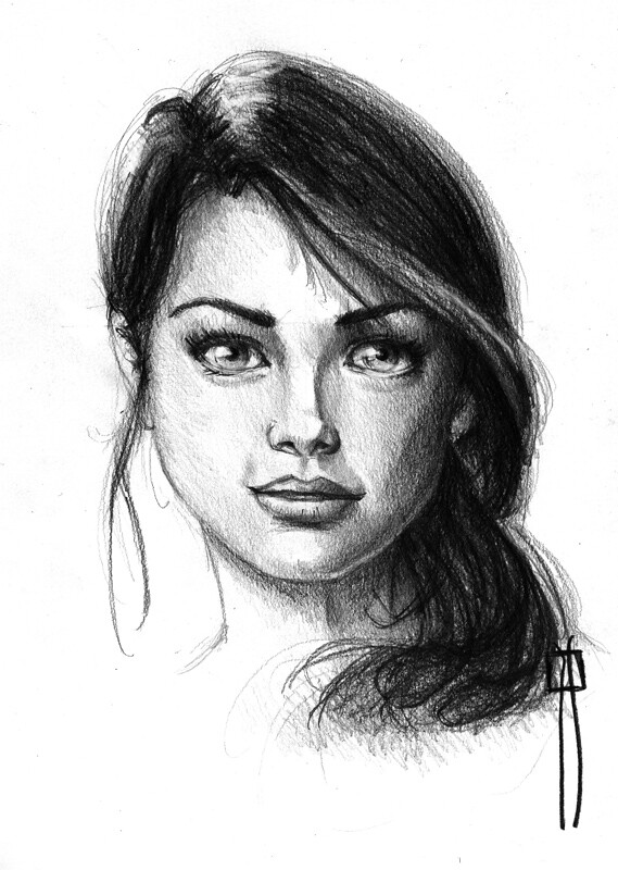 Female Face Drawing Made With Pencil  Female Sketch -8887