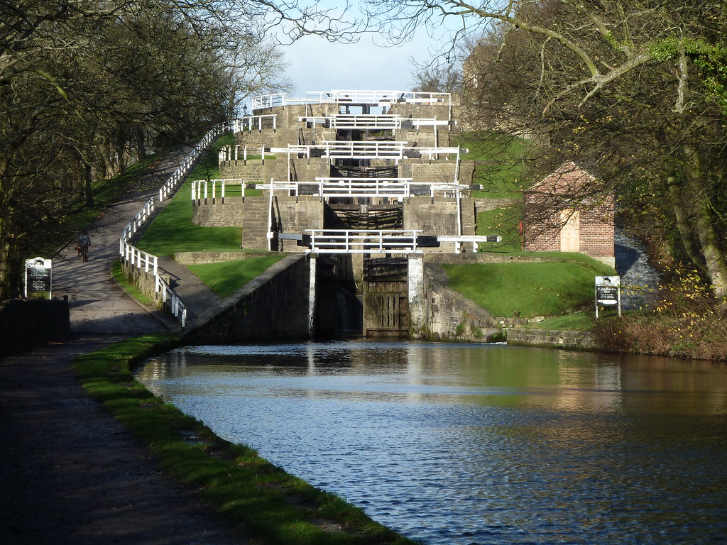 It has several small branches, and in the early 21st century a new link was constructed into the liverpool docks system. Bingley Five rise lock staircase Leeds Liverpool Canal ...