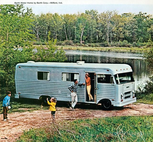 Travel trailer rainbow general motors vintage