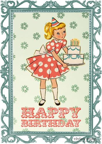 Retro Happy Birthday Card | Flickr - Photo Sharing!