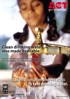 Act against corruption. Improve access to safe drinking water. | by United Nations Development Programme