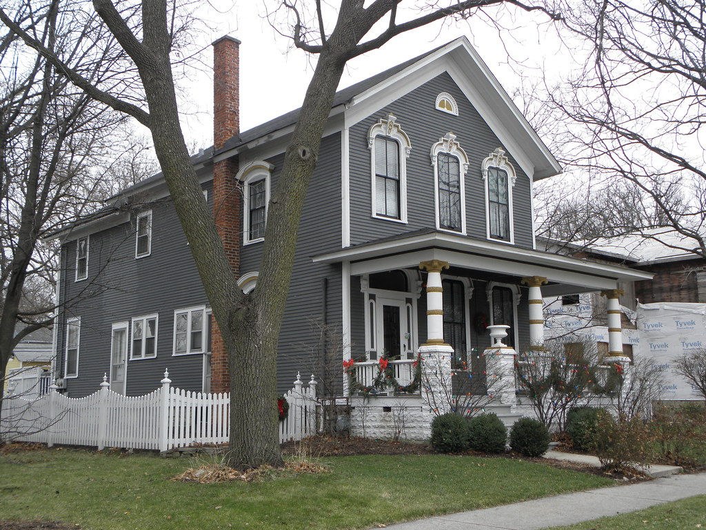 Gray Victorian House Naperville Il Mike Steele Flickr