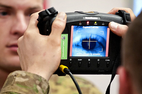 Iris scan | by The U.S. Army