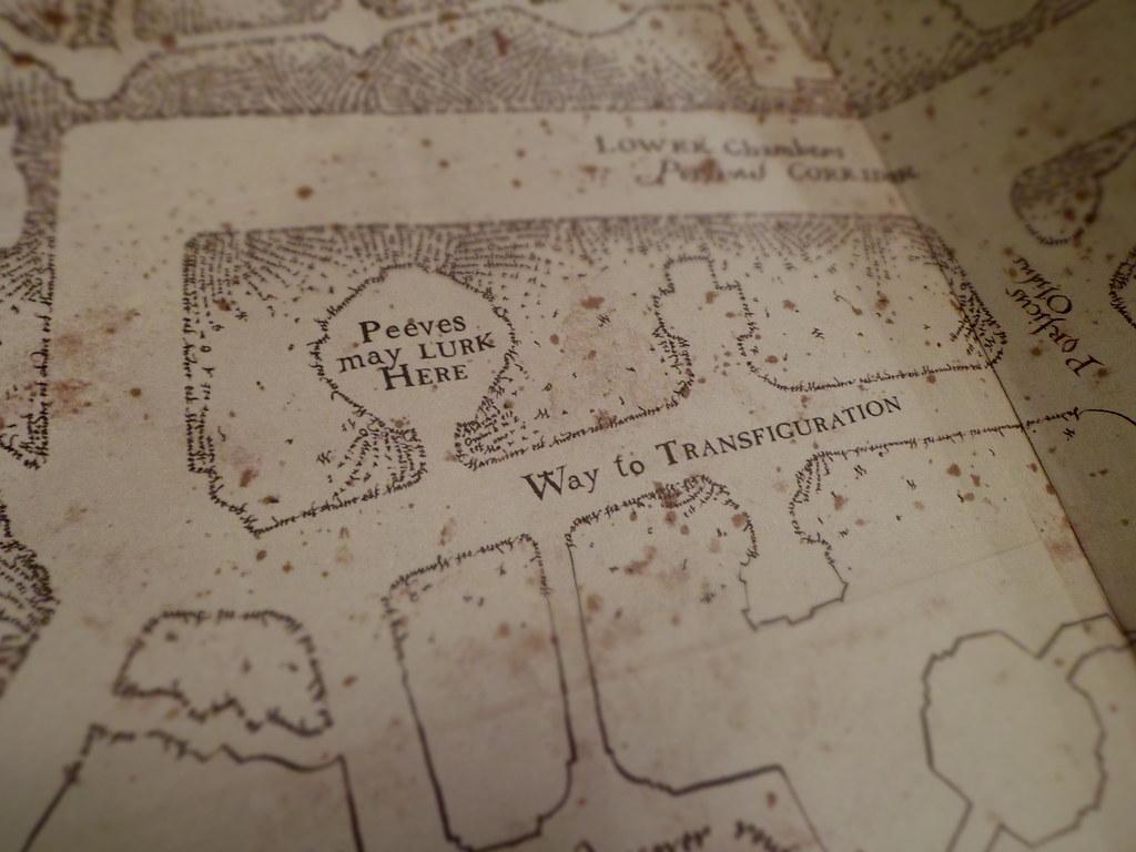 peeves may lurk here marauder u0027s map alishaajadee flickr