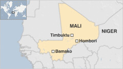 A map of the West African state of Mali illustrating Timbuktu, Bomako and Hombori. Mali has an ancient history of culture and civilization. | by Pan-African News Wire File Photos