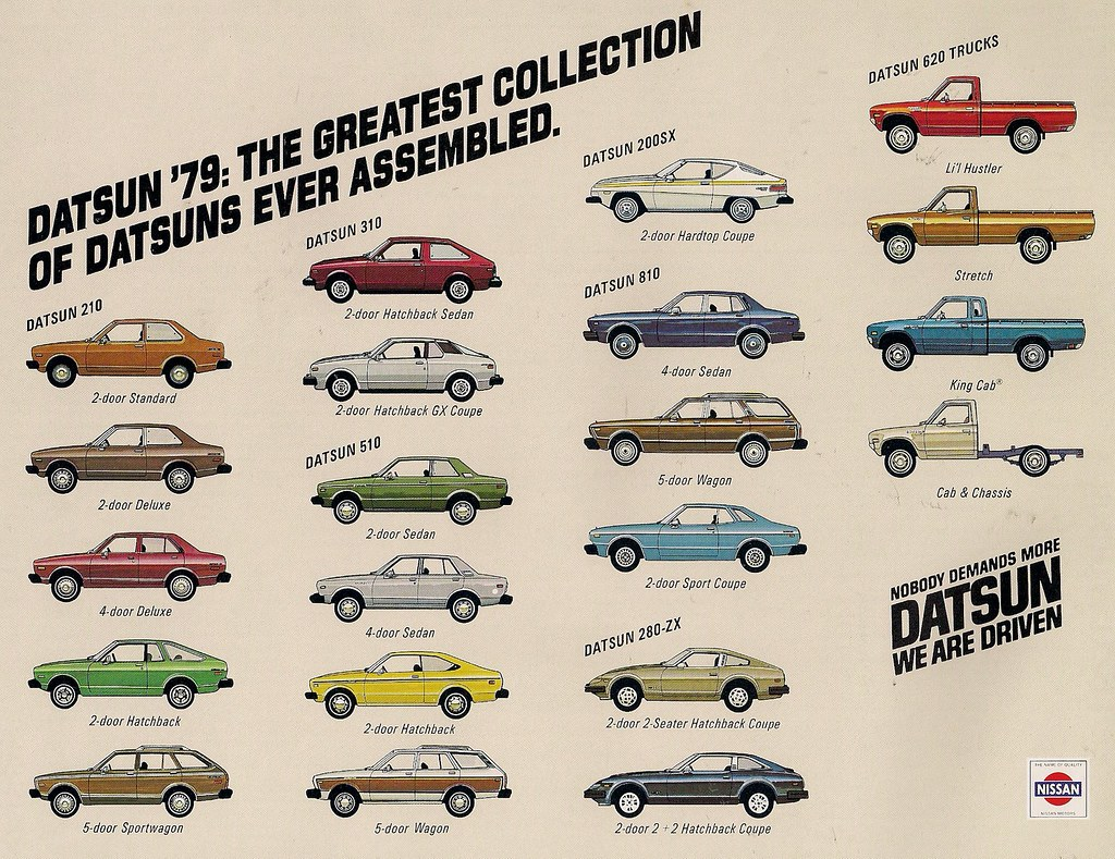 1979 Datsun Line Up Poster Ad