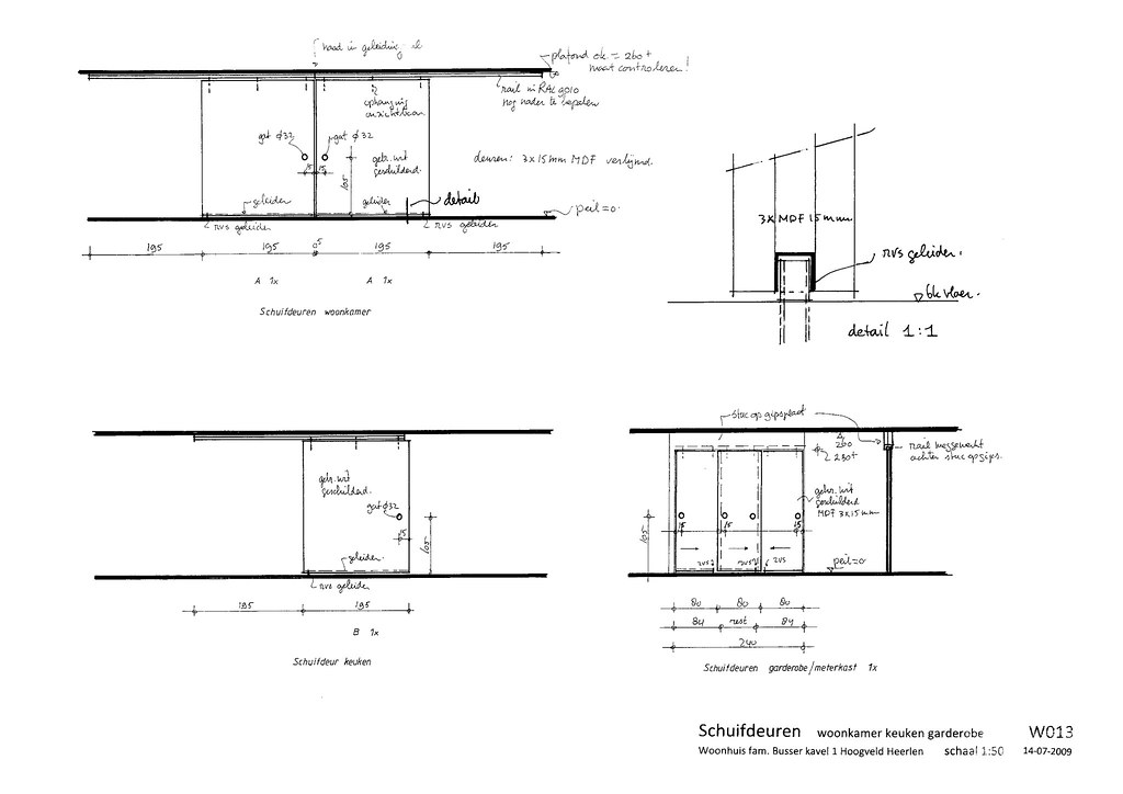 Sliding Doors Architectural Drawing Drawing Sliding Doors 1:50